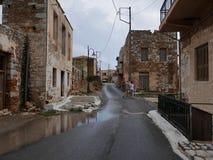 Старая улица в Греции Стоковое Изображение