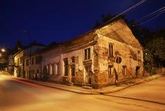 Старая улица в Belogradchik bulbed стоковая фотография rf