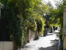 Старая улица Парижа Стоковая Фотография