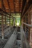 Старая фабрика для продукции бледных кирпичей от глины для buil Стоковое фото RF