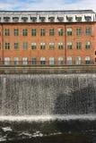 Старая фабрика. Промышленный ландшафт. Norrkoping. Швеция стоковое изображение rf