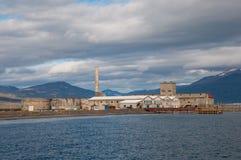 Старая фабрика сельдей в Hjalteyri Исландии Стоковые Фото