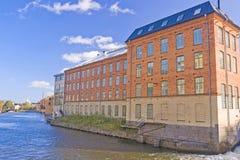 Старая фабрика тканья, Norrkoping Стоковые Фотографии RF