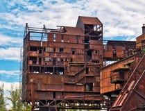 старая фабрики промышленная стоковые фотографии rf