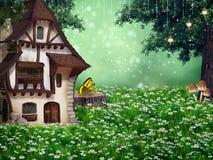 Старая фантазия дома иллюстрация вектора
