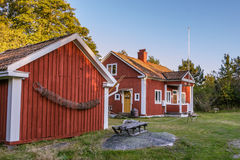 Старая фольклорная школа на Harstena в Швеции Стоковое Фото