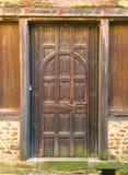 Старая французская деревянная дверь стоковая фотография