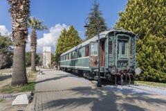 старая фура поезда стоковое изображение