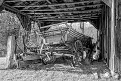 Старая фура сена Стоковая Фотография