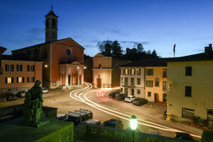 Старая центральная площадь Stabio на Швейцарии Стоковая Фотография