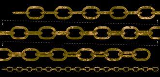 Старая цепь ржавчины Стоковые Изображения RF