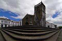 Старая церковь в Азорских островах стоковая фотография rf