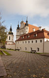 Старая церковь в Вильнюс стоковое фото rf