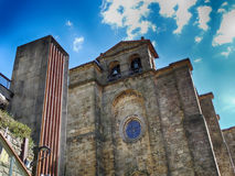 Старая церковь в деревне San Sebastian Pasajes Стоковая Фотография