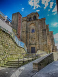 Старая церковь в деревне San Sebastian Pasajes Стоковые Изображения