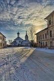 Старая церковь в зиме Стоковая Фотография
