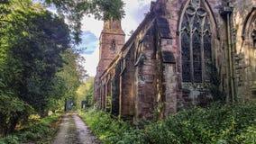 Старая церковь в коллеже хлопка Стоковая Фотография
