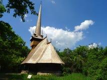 Старая церковь в музее деревни Стоковая Фотография