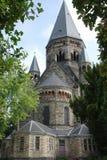Старая церковь в северо-восточной деревне Франции Стоковое фото RF