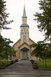 Старая церковь в tromso Стоковые Изображения RF