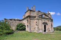 Старая церковь загубленная Сан Bonaventura, Canale Monterano, централи оно Стоковое фото RF