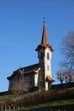 Старая церковь на верхней части холма стоковые изображения