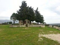 Старая церковь на пасмурный день Стоковые Фото