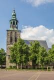 Старая церковь на рыночной площади в Nordhorn Стоковая Фотография
