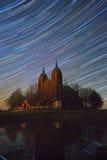 Старая церковь под следами звезды Стоковые Изображения