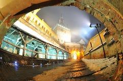 Старая цитадель крепости Sighisoara Стоковые Фотографии RF