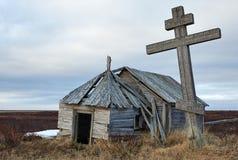 Старая часовня в севере Стоковые Изображения RF