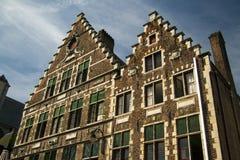 Старая часть Гента Бельгии кирпичного здания Стоковые Изображения RF