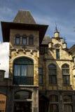 Старая часть Гента Бельгии кирпичного здания Стоковое фото RF
