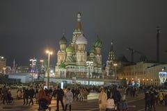 Старая часть города Москвы, России красный квадрат Стоковое Изображение RF