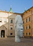 Старая часть города Зальцбурга, скульптуры головы Стоковые Фотографии RF