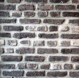 Старая черная кирпичная стена, текстура кирпичной стены Стоковые Фотографии RF