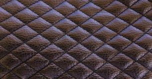 Старая черная кожаная предпосылка текстуры Органическая кожаная предпосылка Черная естественная кожаная текстура Стоковые Фото