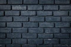 Старая черная предпосылка текстуры кирпичной стены стоковая фотография rf