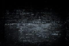 Старая черная предпосылка стены Текстура с предпосылкой виньетки черноты границы Стоковые Изображения RF