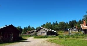 Старая шведская деревня Fryksas Стоковая Фотография