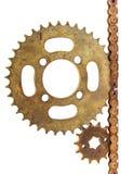 Старая шестерней цепная Стоковые Фото