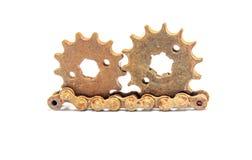 Старая шестерней цепная Стоковые Фотографии RF
