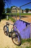 Старая школа, велосипед, и диамант шарика Стоковое фото RF