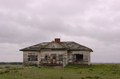 Старая школа в Монтане Стоковые Фото