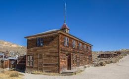 Старая школа в парке положения Bodie историческом Стоковые Фотографии RF