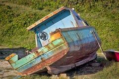 Старая шлюпка Барбадосских островов Стоковая Фотография