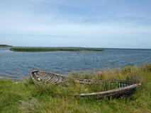 Старая шлюпка рыболовов Стоковое Изображение