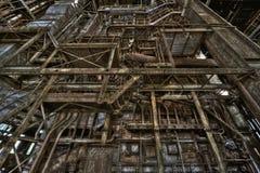 Старая электрическая станция стоковая фотография rf