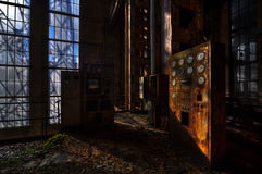 Старая электрическая станция стоковое фото