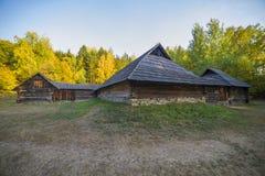 Старая этническая украинская деревня Стоковое Изображение